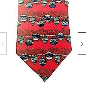 Claybrooke Christmas Tie Silk Necktie Ornaments